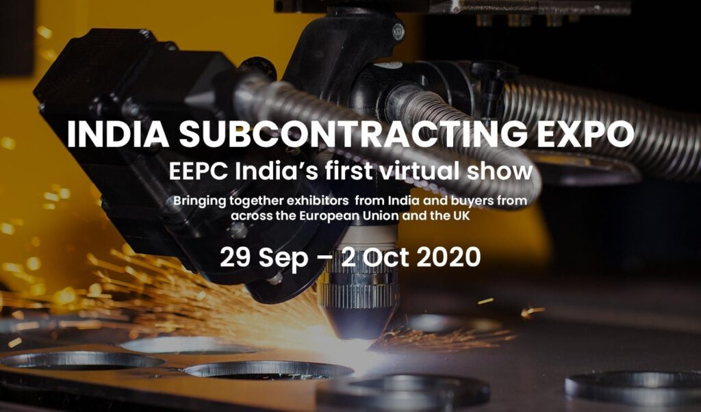 India Subcontracting Expo: the first virtual fair organized by EEPC India